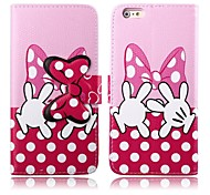 Shy Tiny Hands Pattern PU Leather Full Body Cover with Stand for iPhone 6 Plus