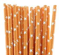 novos canudos de papel chegada do dia das bruxas tema da estrela venda quente (25 unid)
