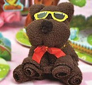 Birthday Gift Bear Shape Fiber Creative Towel (Random Color)