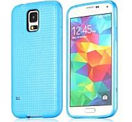 Custodia protettiva flessibile della maglia di tpu di disegno per Samsung Galaxy i9600 S5 (colori assortiti)