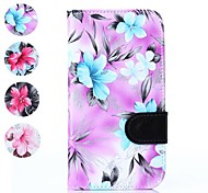 Floral Pattern PU Leather Full Body Cover with Card Solt Cave for Samsung Galaxy Grand Neo I9060(Assorted Color)