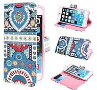 Beautiful Painting Wallet PU Leather Case Cover with Stand and Card Slot for iPhone 6