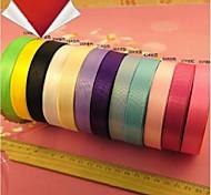 25 Yards long 1.5cm Wide Satin Ribbon, Wedding Party Decoration DIY Ribbon