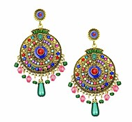 (1 Pair)Bohemia Style Classical Colourful  Drop Earrings