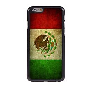 Vintage The Mexican Flag Pattern Aluminum Hard Case for iPhone 6