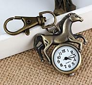 Unisex Retro Running Horse Pattern  Alloy Quartz Analog Keychain Watch(1pc)