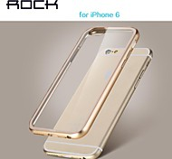ROCK New Metal Frame + Transparent Shell 2 in 1 Case for IPhone 6 4.7(Assorted Colors)