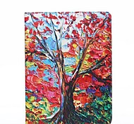 Maple Tree Oil Painting Style PU Leather Full Body Case with Stand and Card Slot for iPad 2/3/4