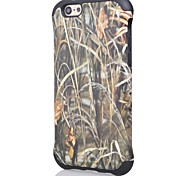 2 in1 Straw Grass Camo Hybrid PC+Soft Silicone Case Cover for iPhone 6