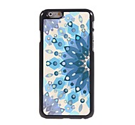 Blue Flower Pattern Aluminum Hard Case for iPhone 6