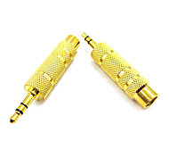 0.1M 0.328FT 3.5mm Male to 6.5mm Female Mic Audio Connector Free Shipping