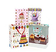 Lureme Fashion  Birthday Candle Pattern Gift Bag(Random Color)(1 Pc)