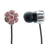 moda jóia flor estilo in-ear fones de ouvido para iphone iphone 6 6 mais