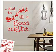 zooyoo® bonito colorido pvc carrige natal removível de adesivos de parede adesivos de parede de venda quente para a decoração da casa