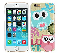 Owl Lovers Hard Plastic Case Cover for iPhone 6