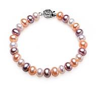 BRI.R® Fashion 8-9mm Natural Pearl Bracelet-- Mixed Color