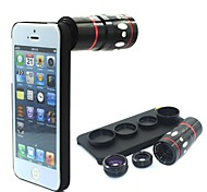Vcall 4 In One Phone Lens Fisheye Lens Wide-angle Lens Telephoto Lens Macro Lens Mini Camera with Case for iPhone 5/5S
