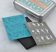Tin Box Fairy DIY Plastic Foam Seal Stamp Set