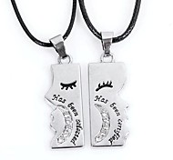 Couple's Kiss Each Other Pendant Necklace(One Couple)
