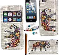 фантазии слон искусственная кожа с дисплеем слот для карт окна с пером, защитная пленка и пыли разъем для iphone 6 плюс