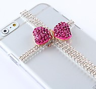 DIY Beautiful Style with Rhinestones Pattern Plastic Hard Cover for iPhone 6