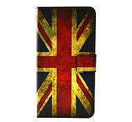 patrón de bandera británica pu cuero caso de cuerpo completo con soporte y ranura para tarjetas de raninbow wiko