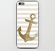 Gold Anchors Pattern hard Case for iPhone 6
