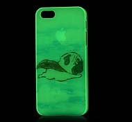 Super Pug Pattern Glow in the Dark Hard Case for iPhone 4/4S
