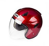 711b tm ak material ABS anti-vaho rresistant-desgaste de la motocicleta medio casco