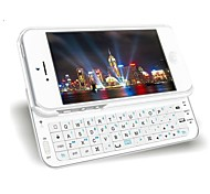 4.7 Inch Sliding-out Mini Wireless Bluetooth Backlight Keyboard with Hard Back Case Cover for iPhone 6 (Black/White)