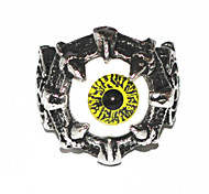 Halloween Grotesque Gothic Silver Alloy Men's Statement Eye Rings(1 Pc)