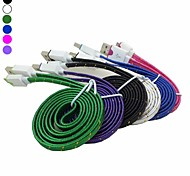 2M 6.6FT Braided Fabric Flat Micro USB 2.0 Data Charger Cable for Samsung Galaxy Note3 S3/S4(Assorted Color)