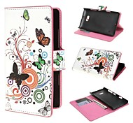 Butterfly Circles Wallet PU Leather Cover with Stand and Card Slot for Nokia Lumia 930