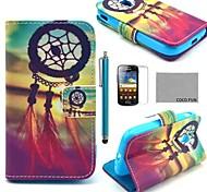 Coco fun® padrão nó chinês estojo de couro pu com protetor de tela, caneta e stand para Samsung Galaxy Ace 2 i8160