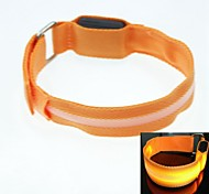 LED Light Screen Arm Band Strap Armband Orange (2xCR2032)
