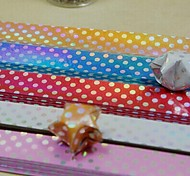 90 PCS Gradient Shiny  Wave Point Pattern Lucky Star Origami Materials (5 Color/Package Random Color)