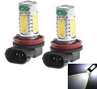 H11 20W 1900LM 6000-6500K White Light Bulb for Car Fog Light (12-24V,2 Pieces)