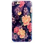 patrón de flores tapa tpu blu-ray púrpura para iphone 6