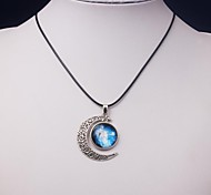Eruner®Bule Milky Way Galaxy Moon Necklace