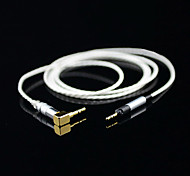 1.2M 3.936FT 3.5mm Male to Male Angle plug Audio extension Cable For AKG Free Shipping