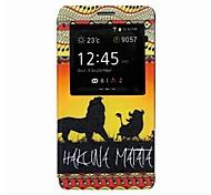 leoni giocano in pascolo al tramonto del modello di cuoio dell'unità di elaborazione finestra aperta caso il corpo per Samsung Galaxy Note 4