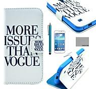 Modelo de la impresión de moda de cuero de la PU caso de coco Fun® con protector de pantalla y el lápiz para mini i9190 Samsung Galaxy S4