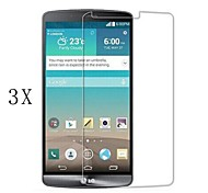 [3-Pack]Professional High Transparency LCD Crystal Clear Screen Protector with Cleaning Cloth for LG G3