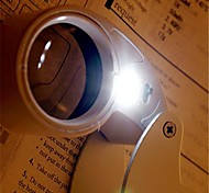 5.5 * 3.2 * 2.4cm 40 fois portable loupe lampe led