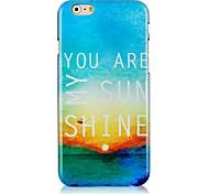 Light of Setting Sun Pattern Hard Back Case for iPhone 6