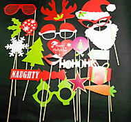 27 pcs tarjeta de papel de fotos props stand christamas favor de la diversión (gafas&sombrero&bigote&sombrero)