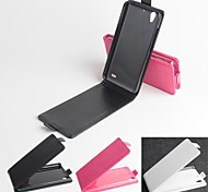 Hot Sale 100% PU Leather Flip Leather Up and Down Case for Huawei G630(Assorted Color)