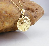 18K Golden Plated Horse Coin Pendant