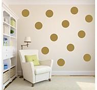 jiubai® золото горошек наклейки наклейки на стены, 18 см / точка, 10dots / комплект