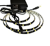 JIAWEN® Waterproof 1M 5W 60x5050SMD 3000-3200K Warm White LED Flexible Strip Light + 1A Power (AC 110-240V)